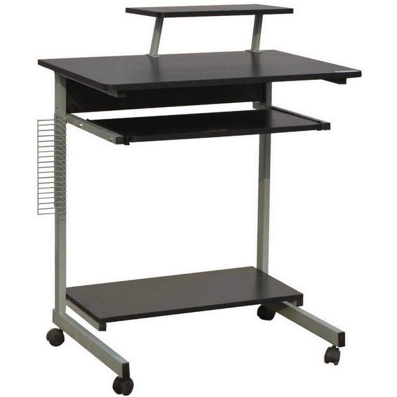 Homegear Compact Home Office Computer Desk on Wheels Black #1