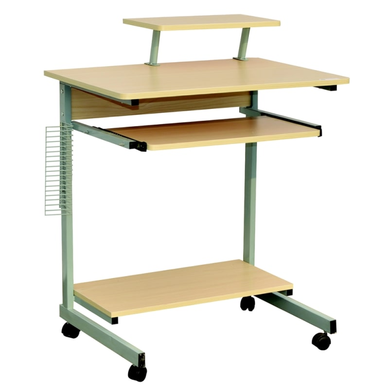 Homegear Compact Home Office Computer Desk on Wheels Maple #1