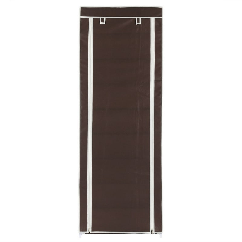Homegear Large Free Standing Fabric Shoe Rack /Storage Cabinet Dark Brown #1