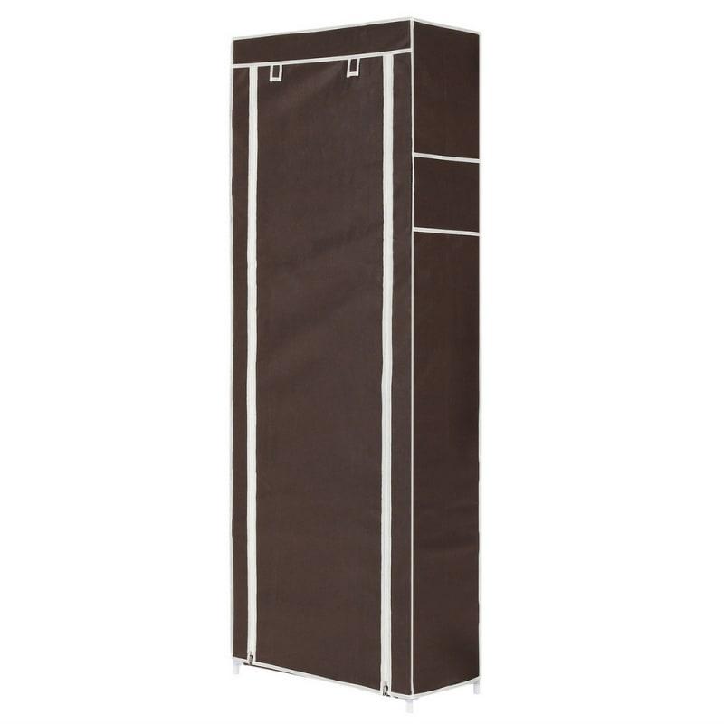 Homegear Large Free Standing Fabric Shoe Rack /Storage Cabinet V2 Dark Brown #2