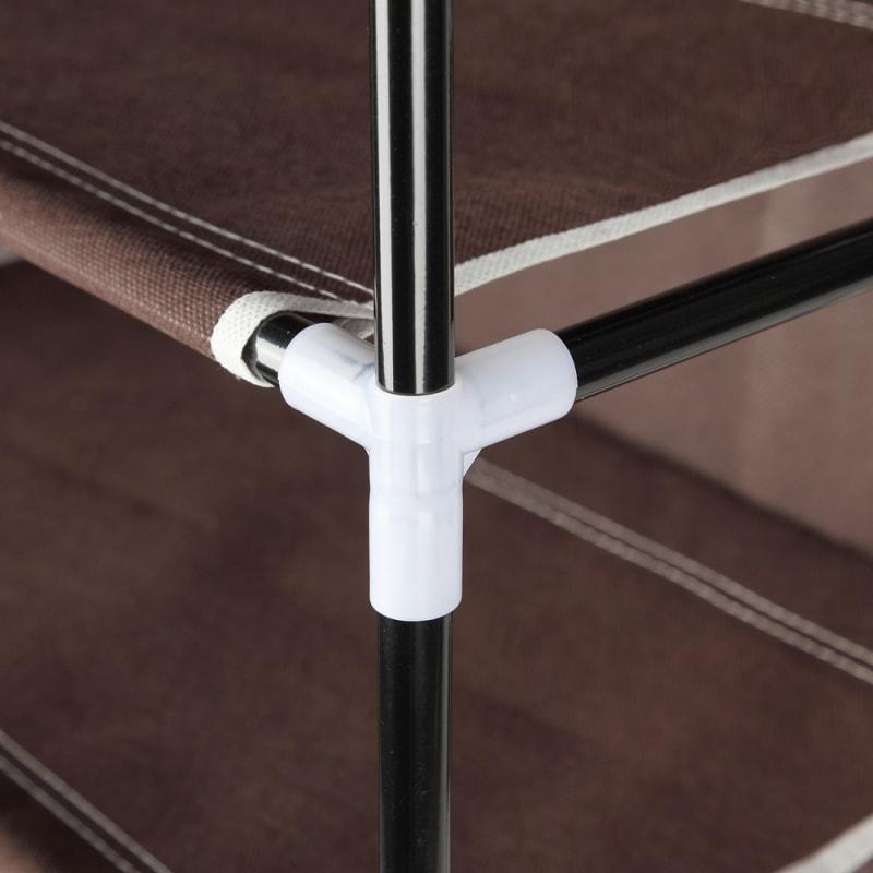 Homegear Large Free Standing Fabric Shoe Rack /Storage Cabinet V2 Dark Brown #7