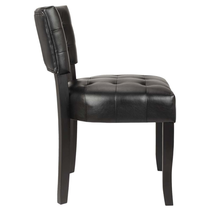 Fabulous Open Box Homegear Oversized Tufted Faux Leather Accent Chair Black Inzonedesignstudio Interior Chair Design Inzonedesignstudiocom