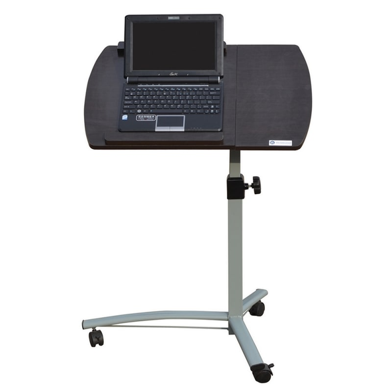 Homegear Portable Rolling Laptop Desk / Table Stand on Wheels Brown - Golf Outlets of America ...