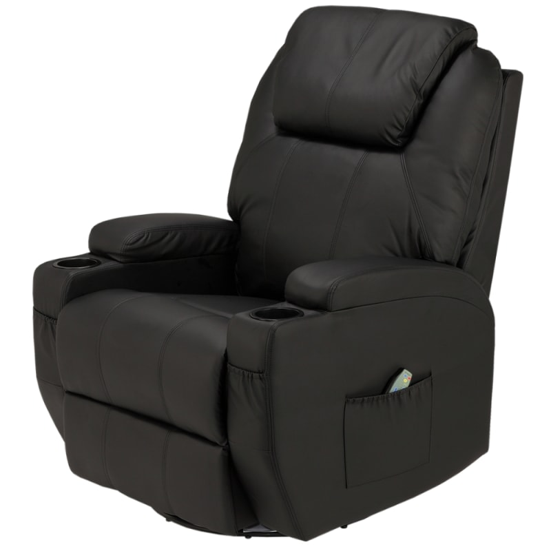Groovy Homegear Recliner Chair With 8 Point Electric Massage And Heat Black Bralicious Painted Fabric Chair Ideas Braliciousco