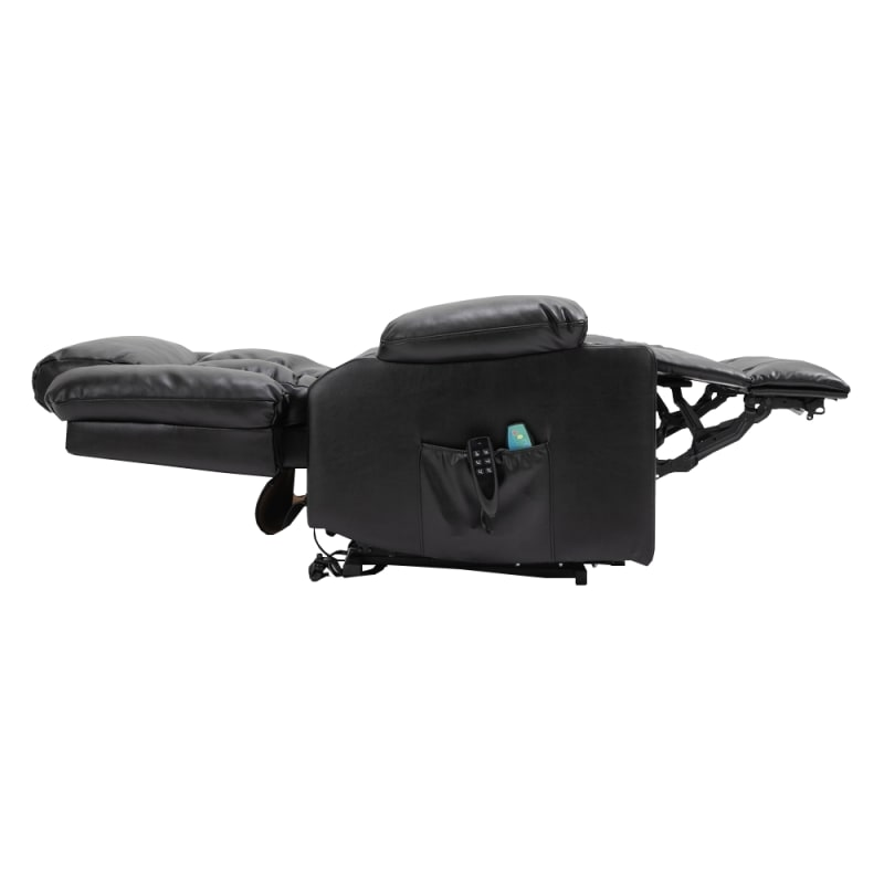 Homegear Air Leather Tri-Motor Reclining Lift Chair with Massage, Black #3
