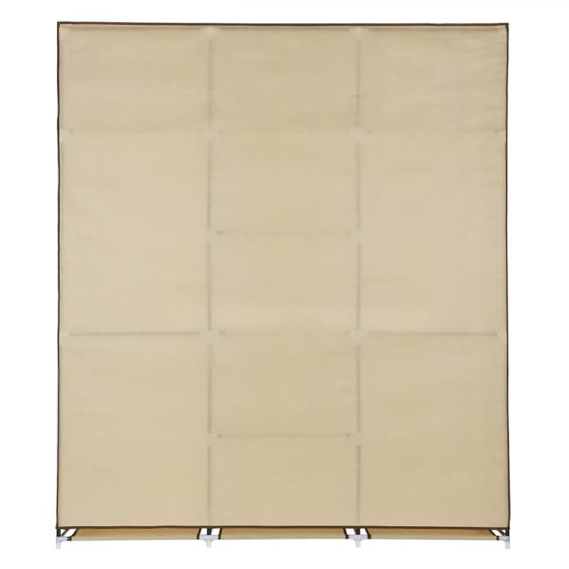Homegear Triple Fabric Portable Wardrobe Closet Cream #3