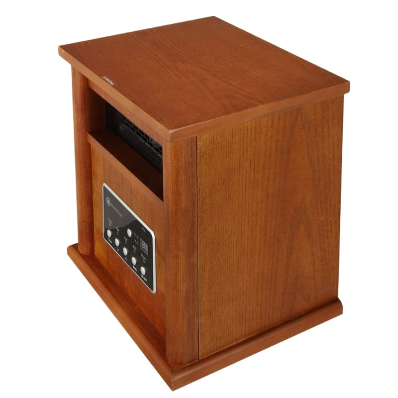 Homegear Deluxe 1500W Infrared Electric Portable Wooden Space Heater Brown with Remote Control #1