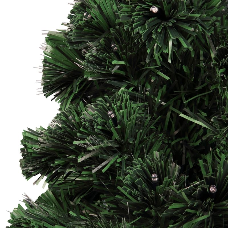 Homegear Artificial Pre-Lit Fiber-Optic Christmas Tree 6ft, Pre-lit with 235 Color Lights, Metal Stand and Star #3