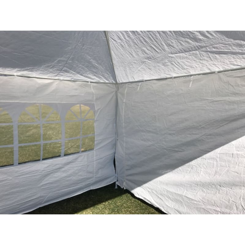 Palm Springs 10' x 20' White Canopy Party Tent with 4 Sidewalls #3