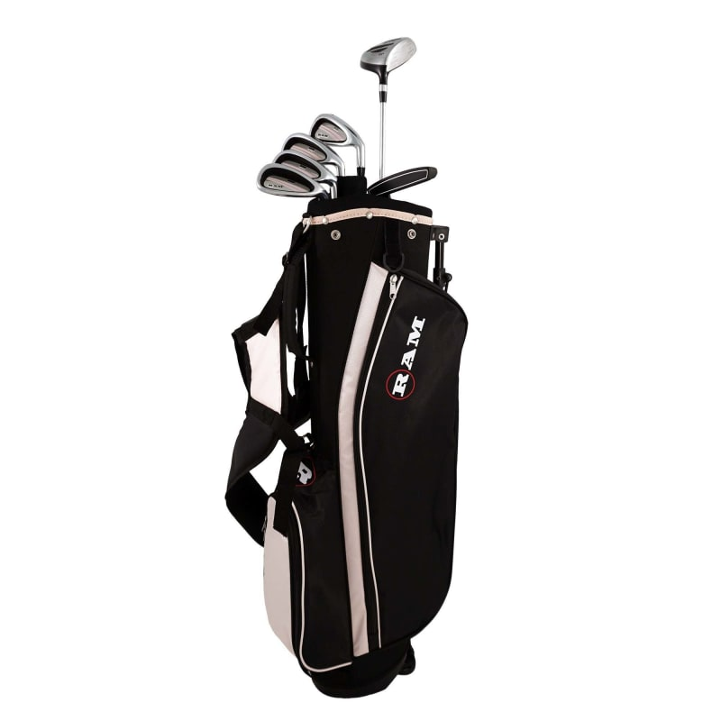 Ram Golf SGS Ladies Golf Clubs Set with Stand Bag - Steel Shafts