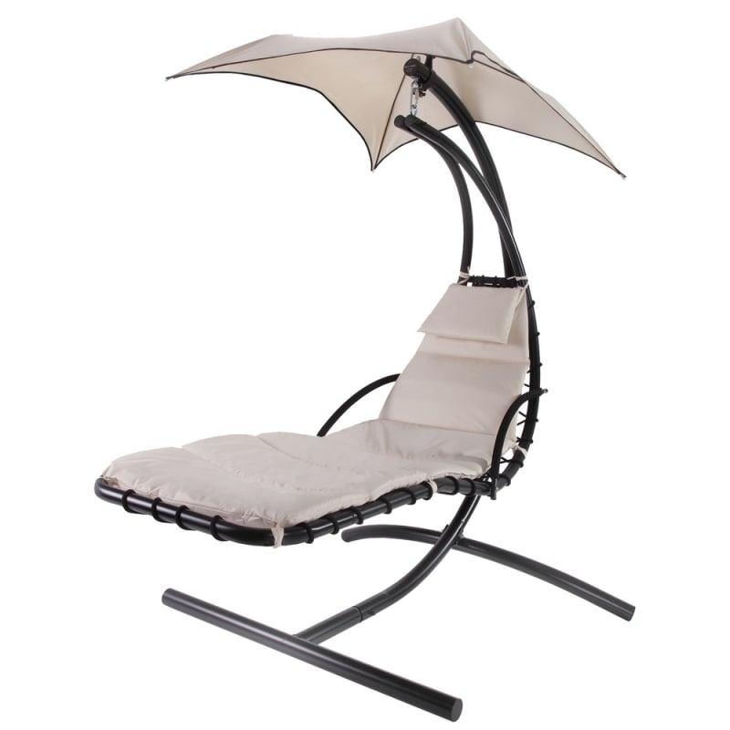 Palm Springs Outdoor Hanging Chair / Recliner Cream