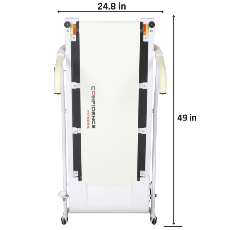 Confidence Fitness TP-1 Electric Treadmill Folding Motorized Running Machine - White #5