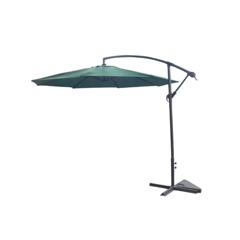 Palm Springs 3.5m Cantilever Patio Umbrella-Green