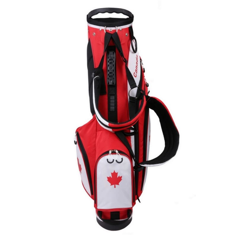 """Prosimmon Golf DRK 7"""" Lightweight Golf Stand Bag with Dual Straps Canadian Flag #1"""
