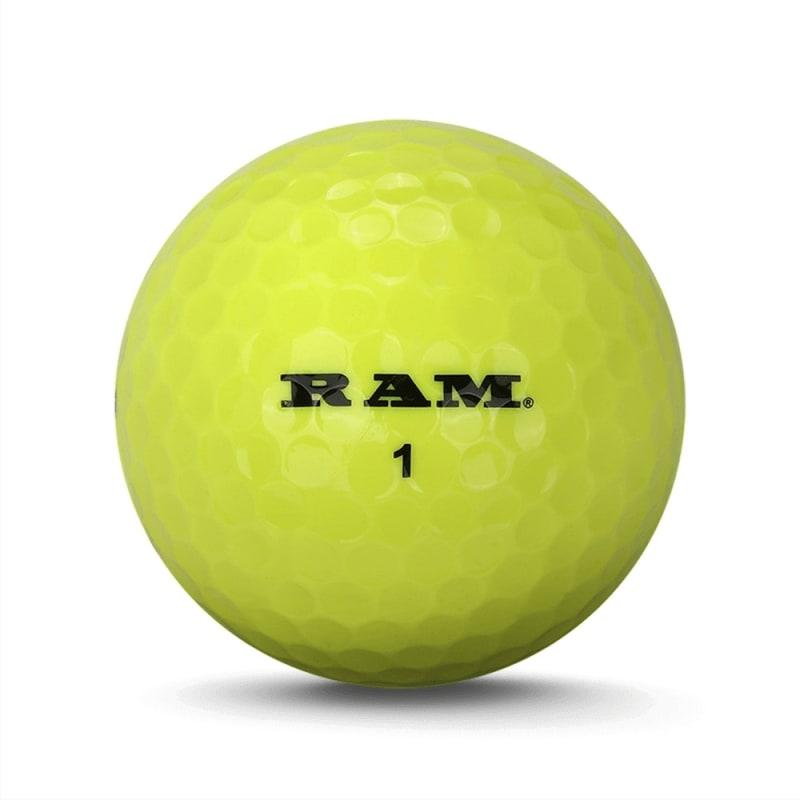 36 Ram Laser Plus Golf Balls - Yellow #