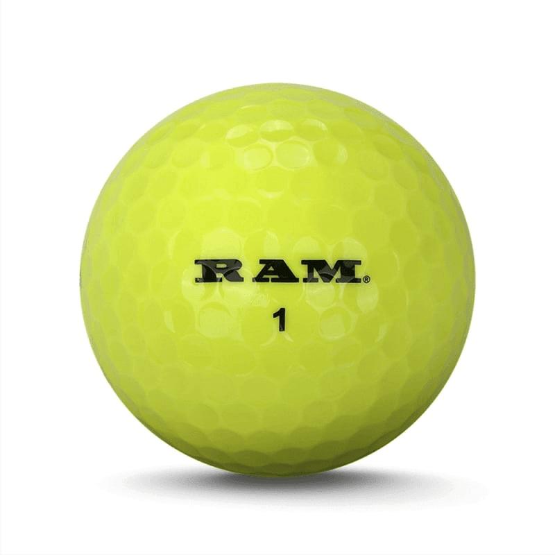 72 RAM Golf Laser Distance Golf Balls - Yellow