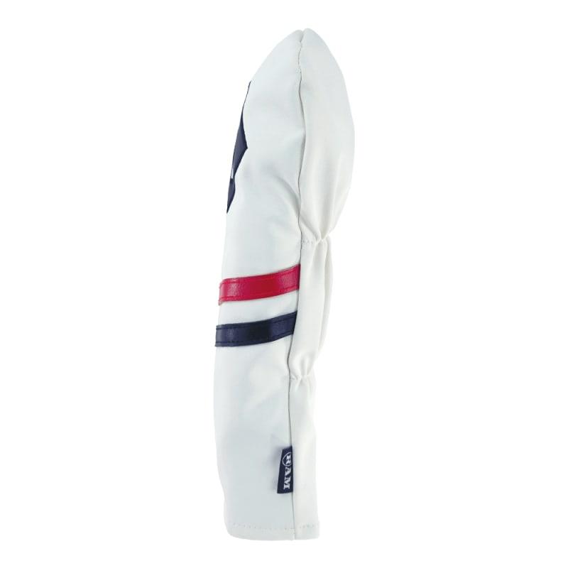 Ram Golf Premium Vintage Style PU Leather Headcovers Set, Retro White, Driver, Fairway Woods, Hybrid (1,3,5,X) #5