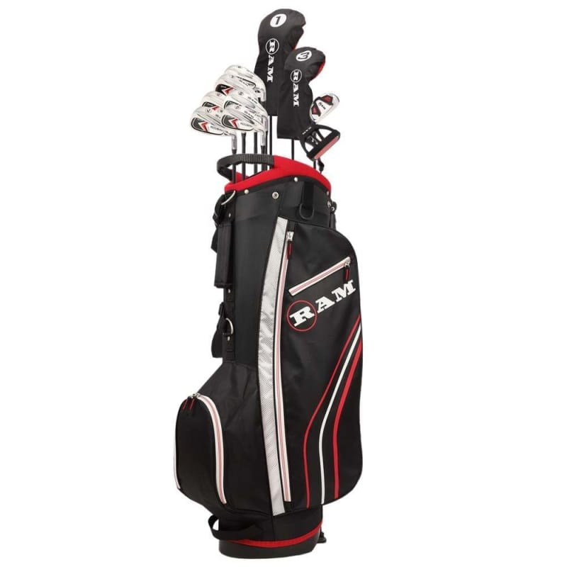 Ram Golf Accubar 13pc Golf Clubs Set - Graphite Shafted Woods and Irons - Mens Right Hand