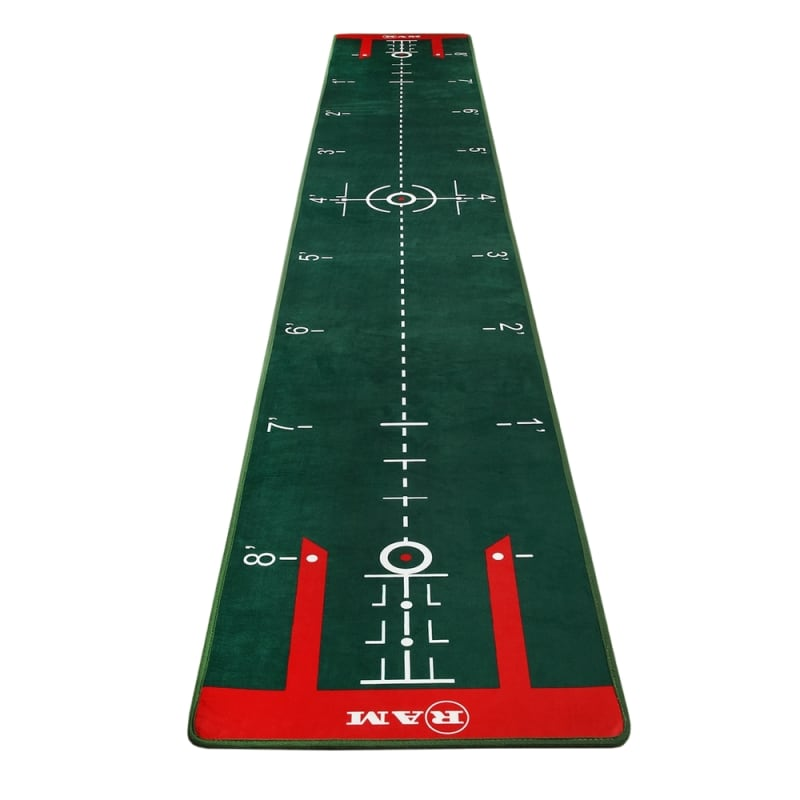Ram Golf PROFESSIONAL Dual Grain Putting Mat with Distance Markers and Slope #1