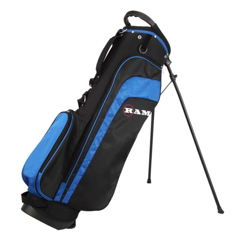 "Ram Golf EZ3 Mens -1"" Shorter Golf Clubs Set with Stand Bag - Graphite/Steel Shafts #10"