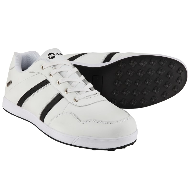 Ram Golf FX Comfort Mens Waterproof Golf Shoes - White / Black