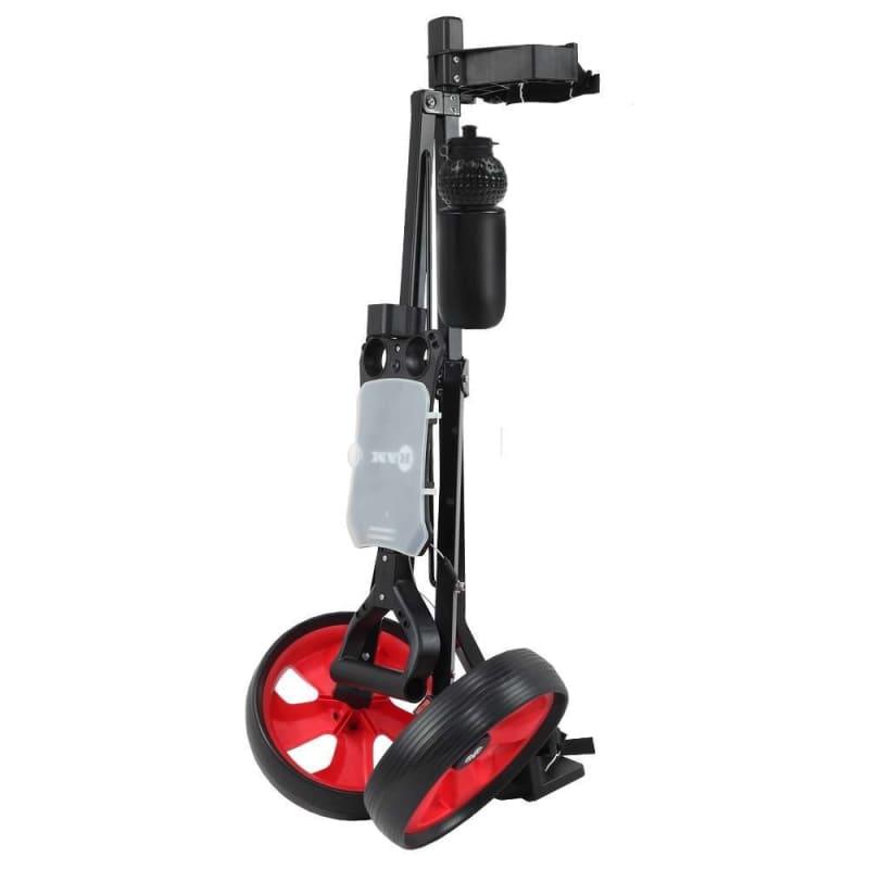 Ram Golf 2 Wheel Folding Steel Pull Cart with Water Bottle, Scorecard Holder and Removable Wheels #2