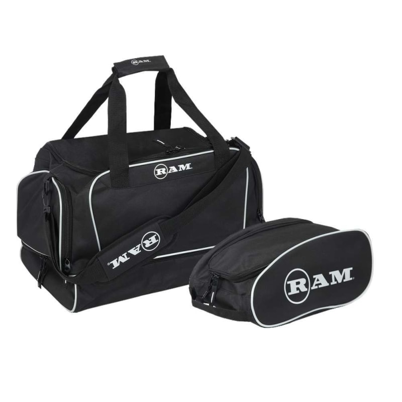 Golf Shoe Bag >> Ram Golf Duffel Bag Gym Bag Sports Holdall With Dedicated Shoe Compartment Free Golf Shoe Boot Bag