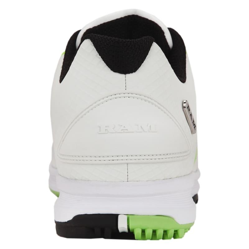 Ram Golf Player Mens Waterproof Golf Shoes - White / Green #3