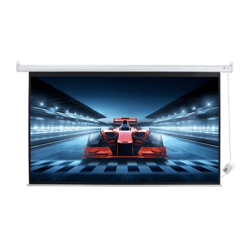 """Homegear 100"""" 16:9 HD/3D Electric Projector Screen"""