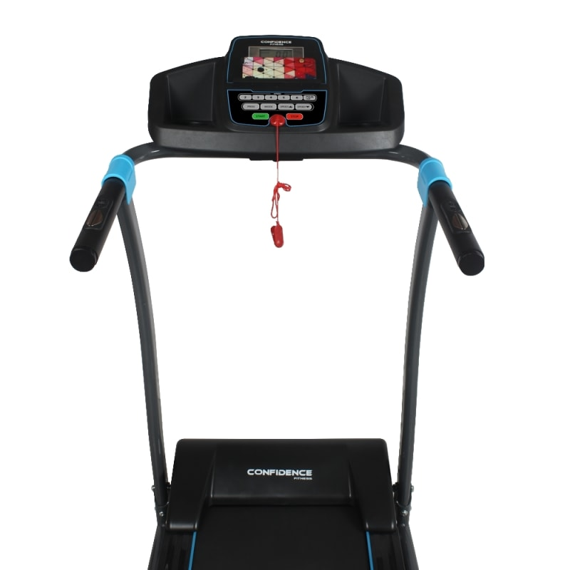 Confidence Fitness TP-3 Folding Electric Treadmill - Motorized Running Machine with Manual Incline, LCD and Phone/Tablet Holder #6