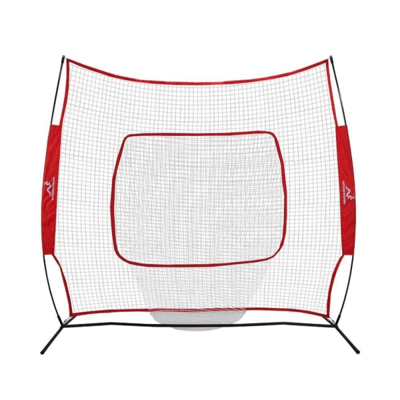 EX-DEMO Woodworm Baseball and Softball 2.2m x 2.2m Practice Net - Quick Set up with Carrying Case