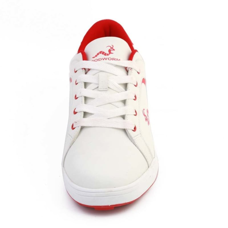 Woodworm Golf Surge V3 Mens Golf Shoes White/Red #2