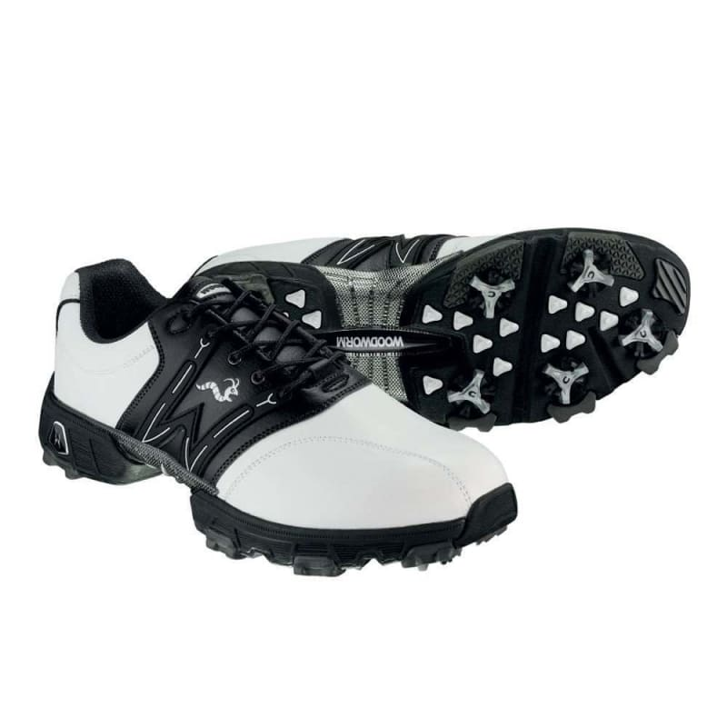 Woodworm Golf Tour Golf Shoes White / Black