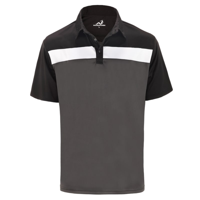 Woodworm Golf Shirts - 3 Pack - Tour Panel Polos - Mens - Grey