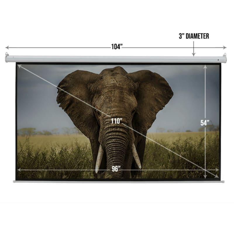 """Homegear 110"""" HD Motorized 16:9 Projector Screen #2"""