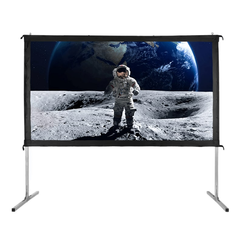"""Homegear Fast Fold Portable 110"""" Projector Screen 16:9 HD for Indoor/Outdoor Use #1"""