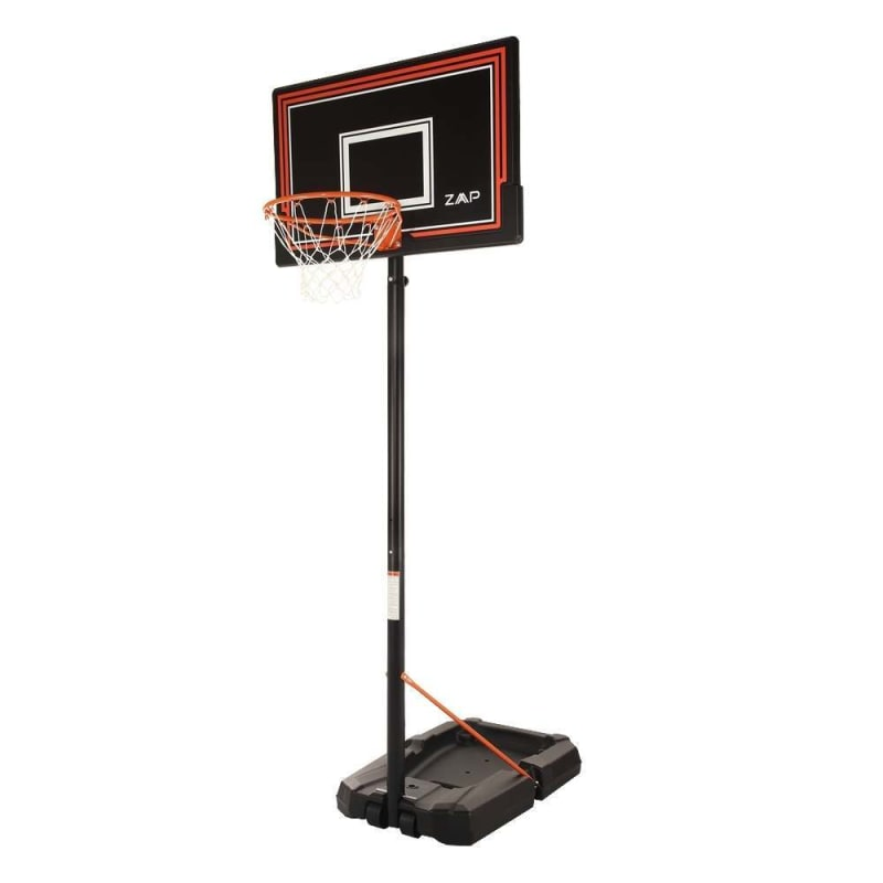 ZAAP Portable Basketball Hoop System - Full Adult Size - Adjustable Height - With Wheels