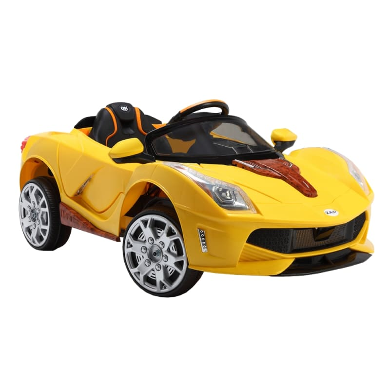 Open Box ZAAP Sports Car 12v Ride On Kids Electric Battery Toy Car Yellow
