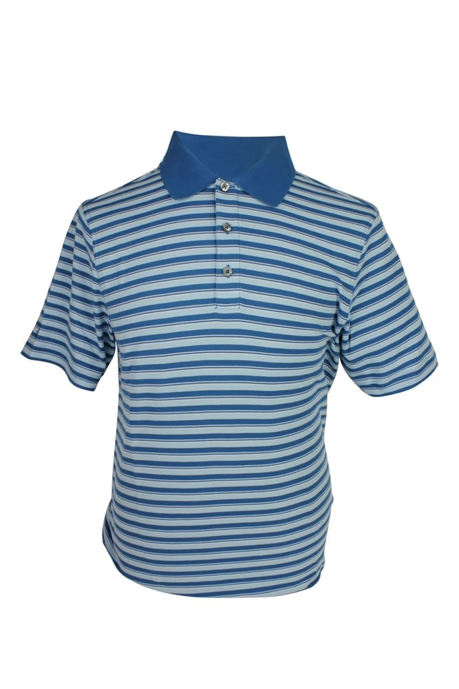 Ashworth Mens Striped Polo Shirt Polos Clothing Golf
