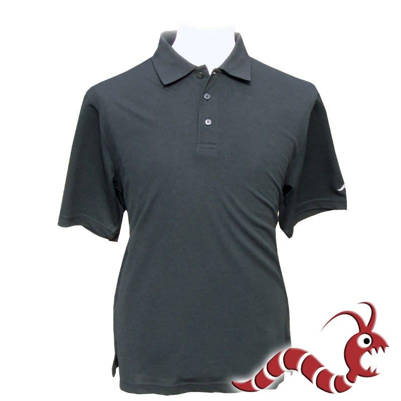 Woodworm Golf Plain Polo Shirt - Black