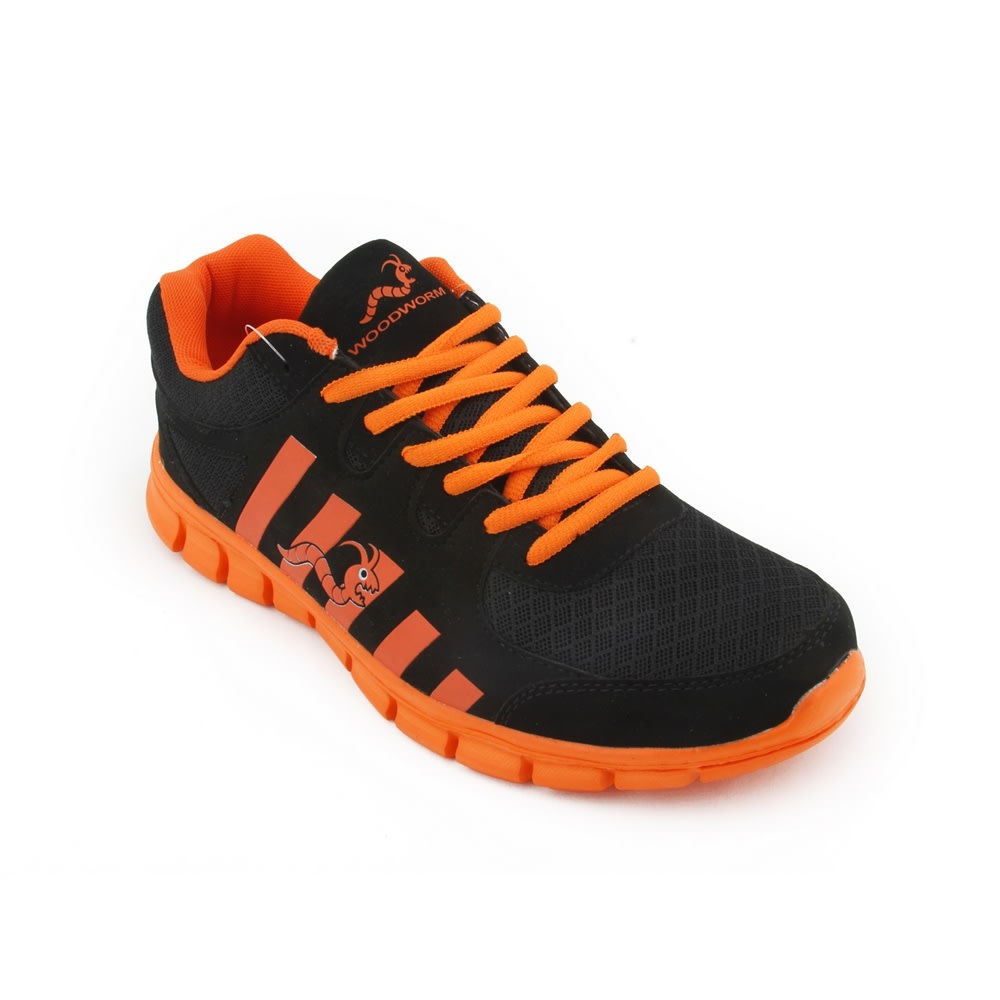 Woodworm CTG Mens Running Shoes / Trainers - Orange