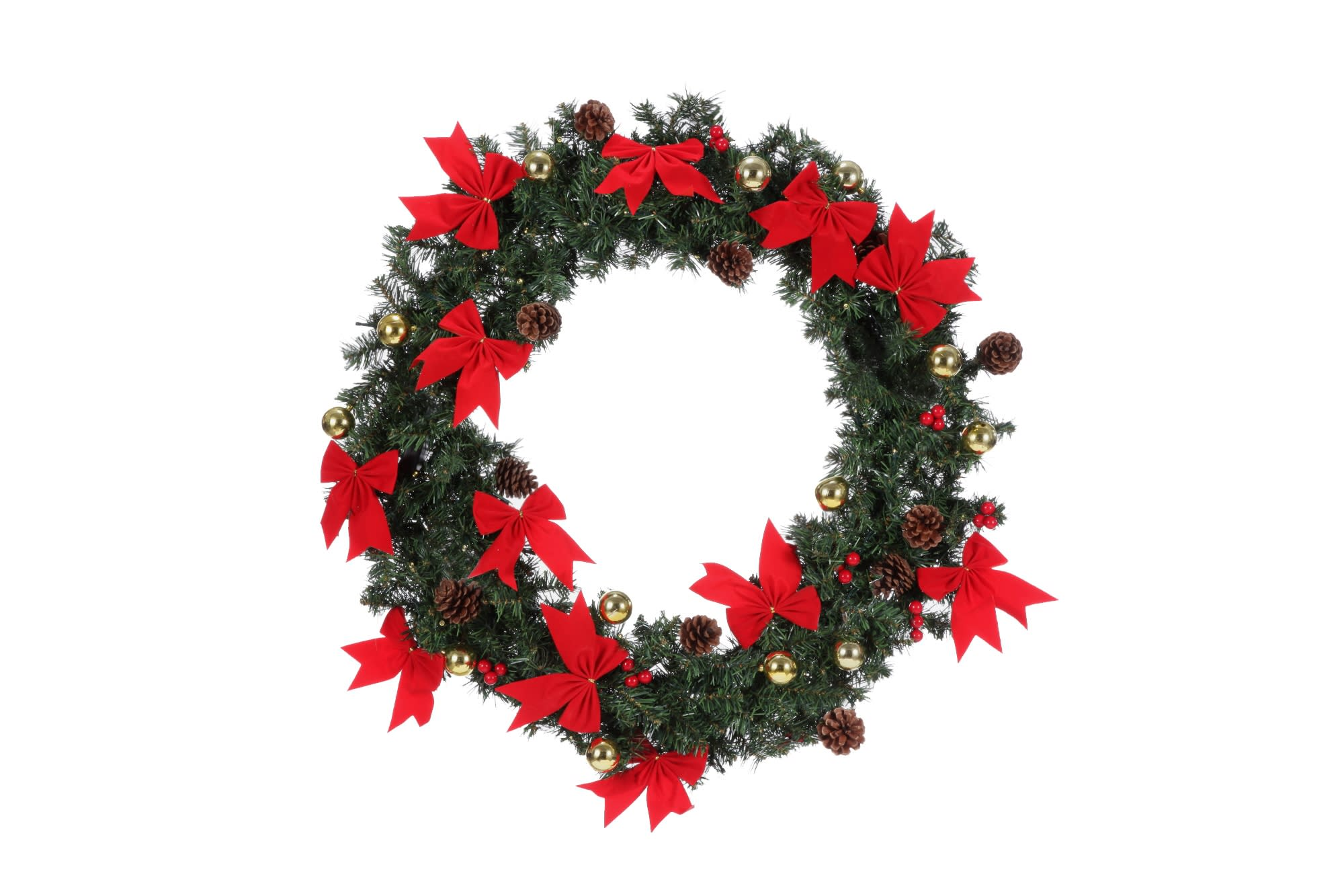 "Homegear 30"" Decorated Christmas Wreath W/ Lights - Golf Outlets of America - Golf Outlets of America"
