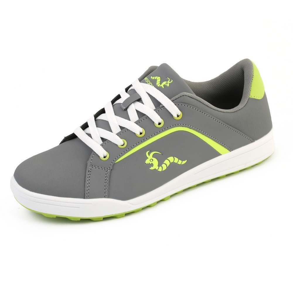 Woodworm Golf Surge V3 Mens Waterproof Golf Shoes Grey/Neon