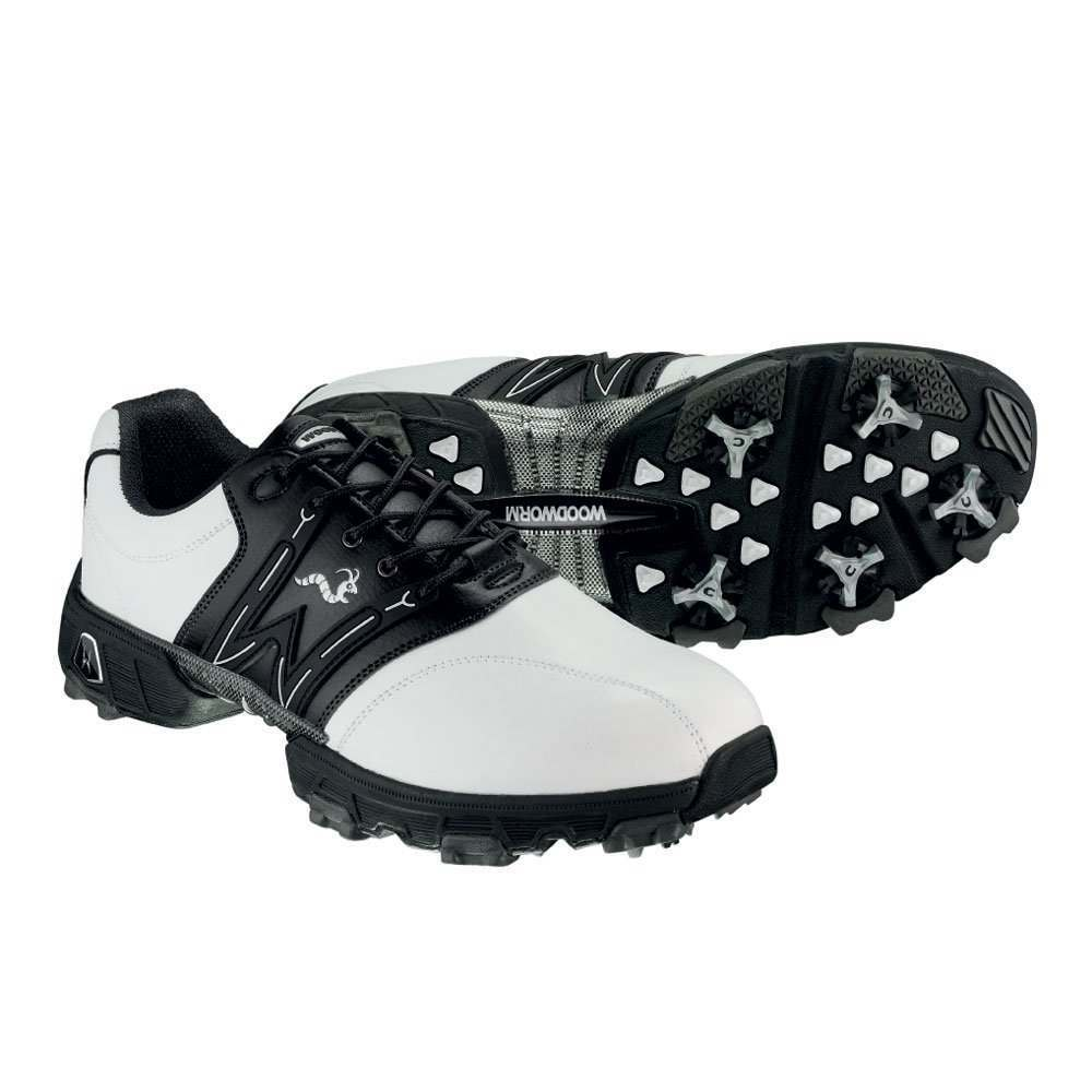 Woodworm Golf Tour Golf Shoes White   Black - GolfGear.co.uk - GolfGear 2c954c4d7