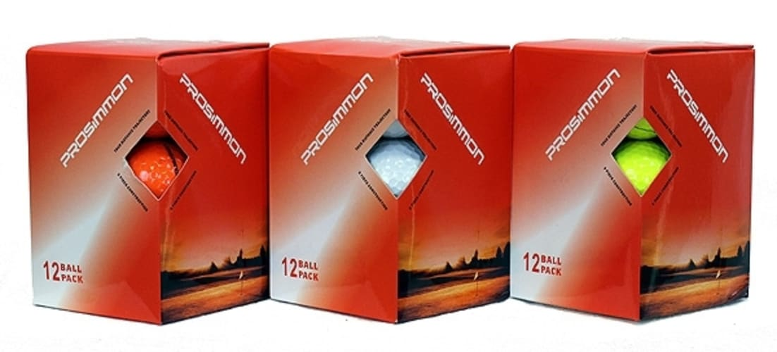 12 Prosimmon Titanium Tour Golf Balls: 3 Colors