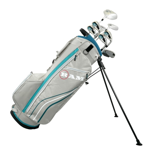 Ram Golf Accubar 12 pc Petite Golf Clubs Set - Graphite Shafted Woods and Irons - Ladies RIght Hand