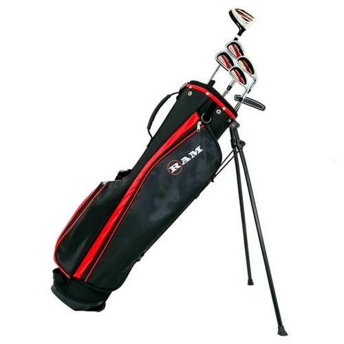 "Ram Golf SGS Mens -1"" Golf Clubs Set with Stand Bag - Steel Shafts"
