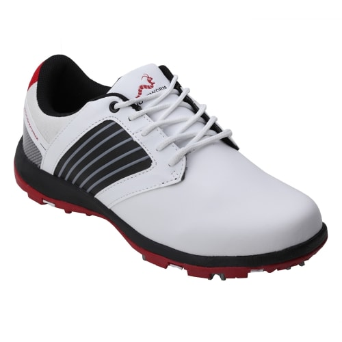 Woodworm Player 2.0 Golf Shoes - White / Red