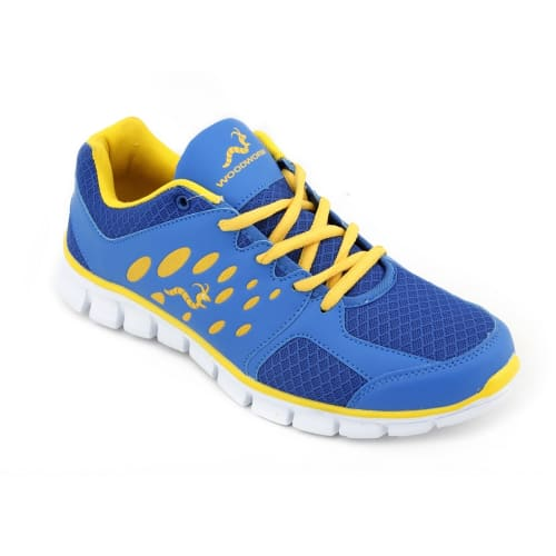 Woodworm EZR Mens Running Shoes / Trainers - Royal / Fluvo