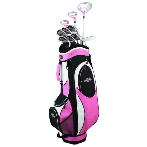 GolfGirl FWS2 Golf Clubs Package Set + Bag Pink - Left Hand